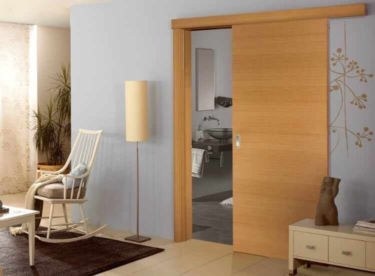 puertas correderas sin obras de cristal o madera colgadas para comedor cocina salon