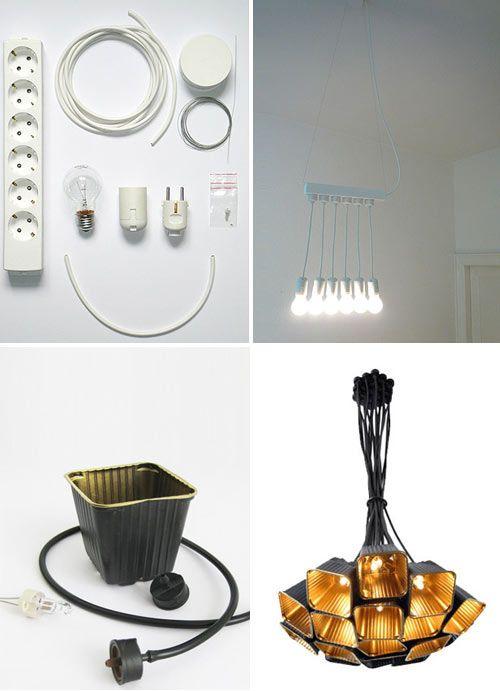 ...uma cabaça? depois de totalmente perfurada, abra uma tampa na parte traseira, coloque instalação elétrica para lâmpada e faça uma luminá...