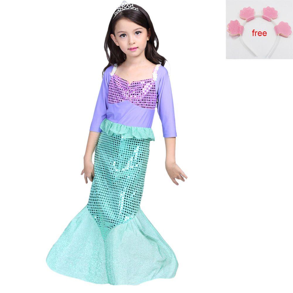 Children baby clothes halloweenchristmas little mermaid fancy kids