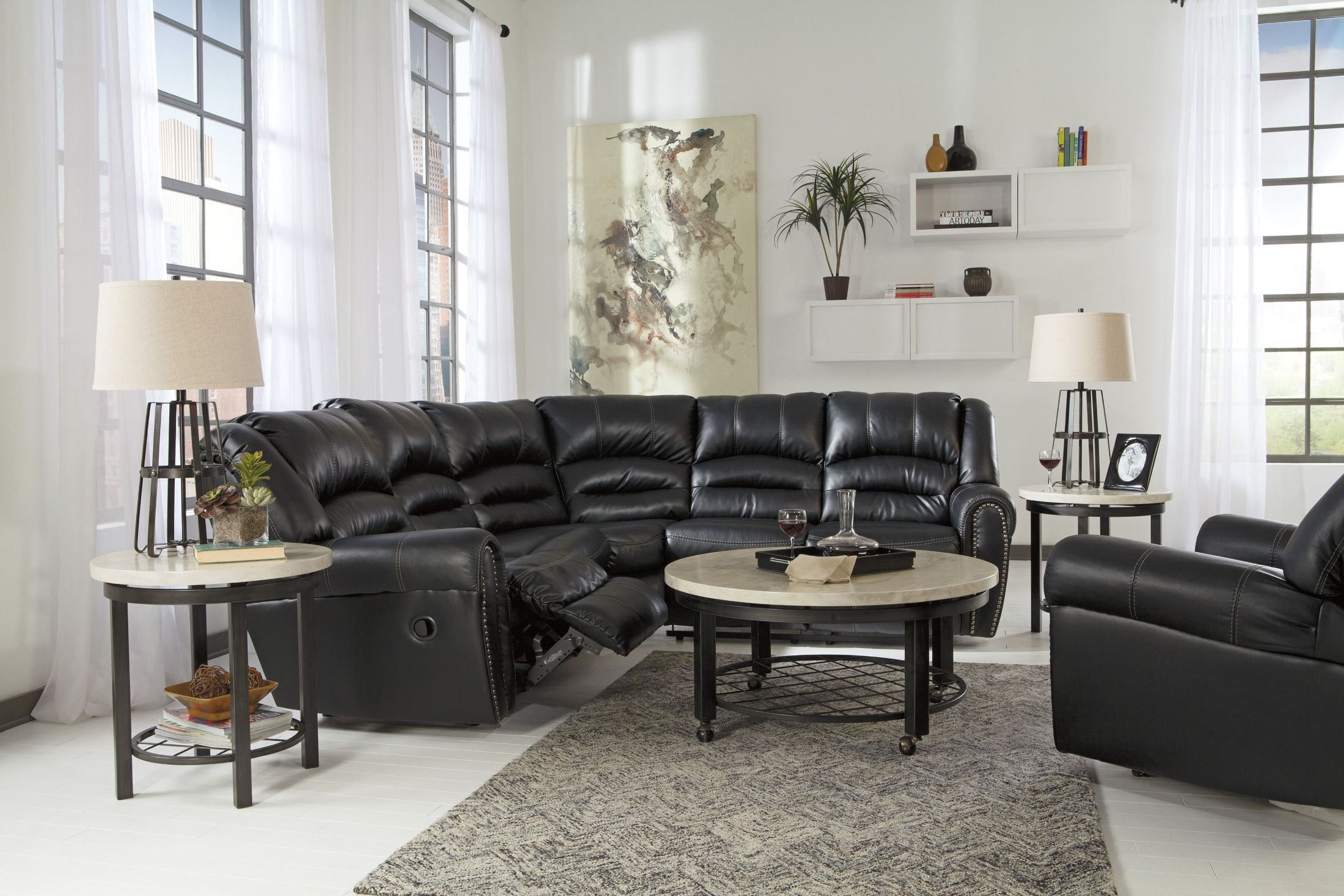 Manzanola Black Sectional Living Room Pinterest