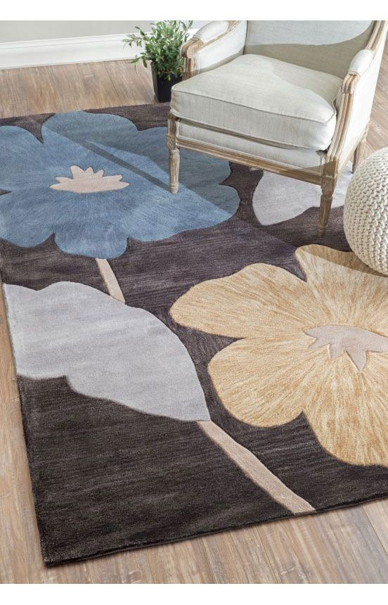 rugs usa amulet floral tl02 dark brown rug rugs usa pre black friday sale 75 off area rug. Black Bedroom Furniture Sets. Home Design Ideas