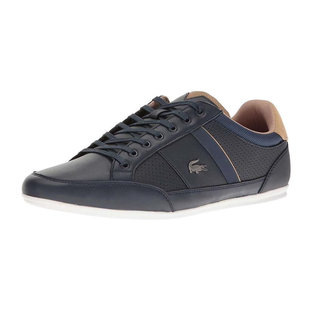 04ccd790d12f NEW Lacoste Men s Casual Shoes Chaymon Fashion Leather Lace Up Sneakers
