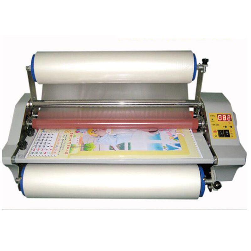 Fm 480 Paper Laminating Machine Four Rollers Worker Card Office File Laminator 100 Guranteed Photo Laminator 1pc Roller Cool Things To Buy Machine