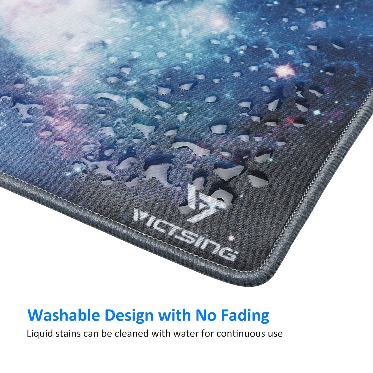 Victsing Mouse Pad Stitched Edges Premium-Textured Mouse Mat Pad Rubber Base