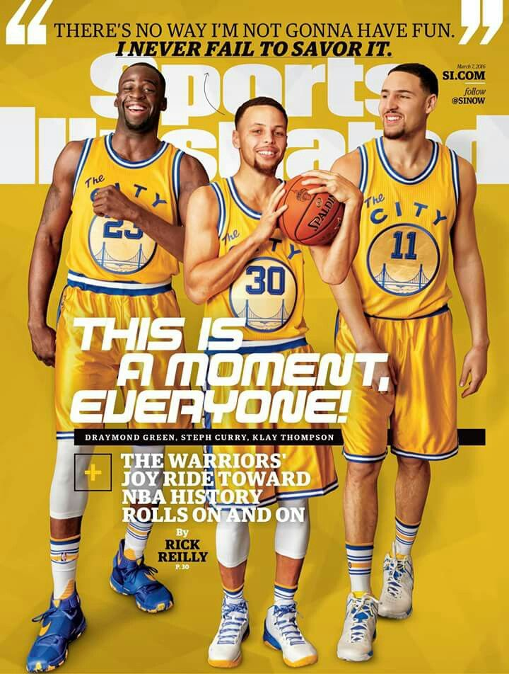 a419cc7122c Stephen Curry, Draymond Green, and Klay Thompson Sports Illustrated ...