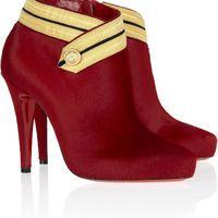 Christian Louboutin|Marychal 100 calf hair ankle boots|NET-A-PORTER.COM