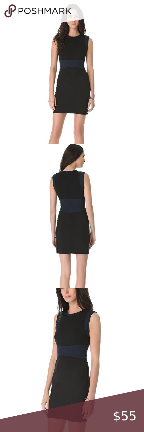 Diane von Furstenberg Gretchen Colorblock Dress Di