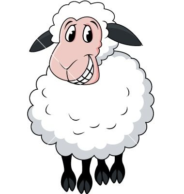 Sheep Cartoon Vector Item 3 Hallo