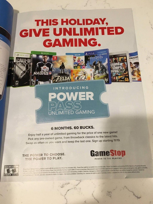 Die Handelskette GameStop hat einen Power Pass für gebrauchte Spiele ...