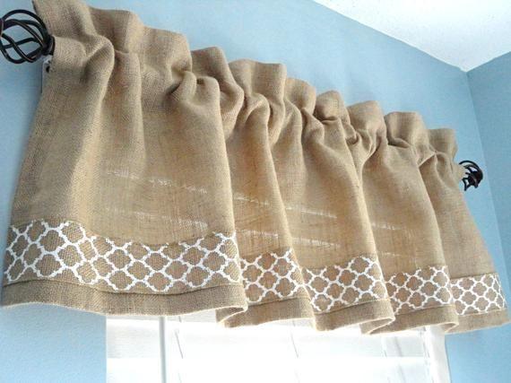 Burlap valance window valance housewares window treatment