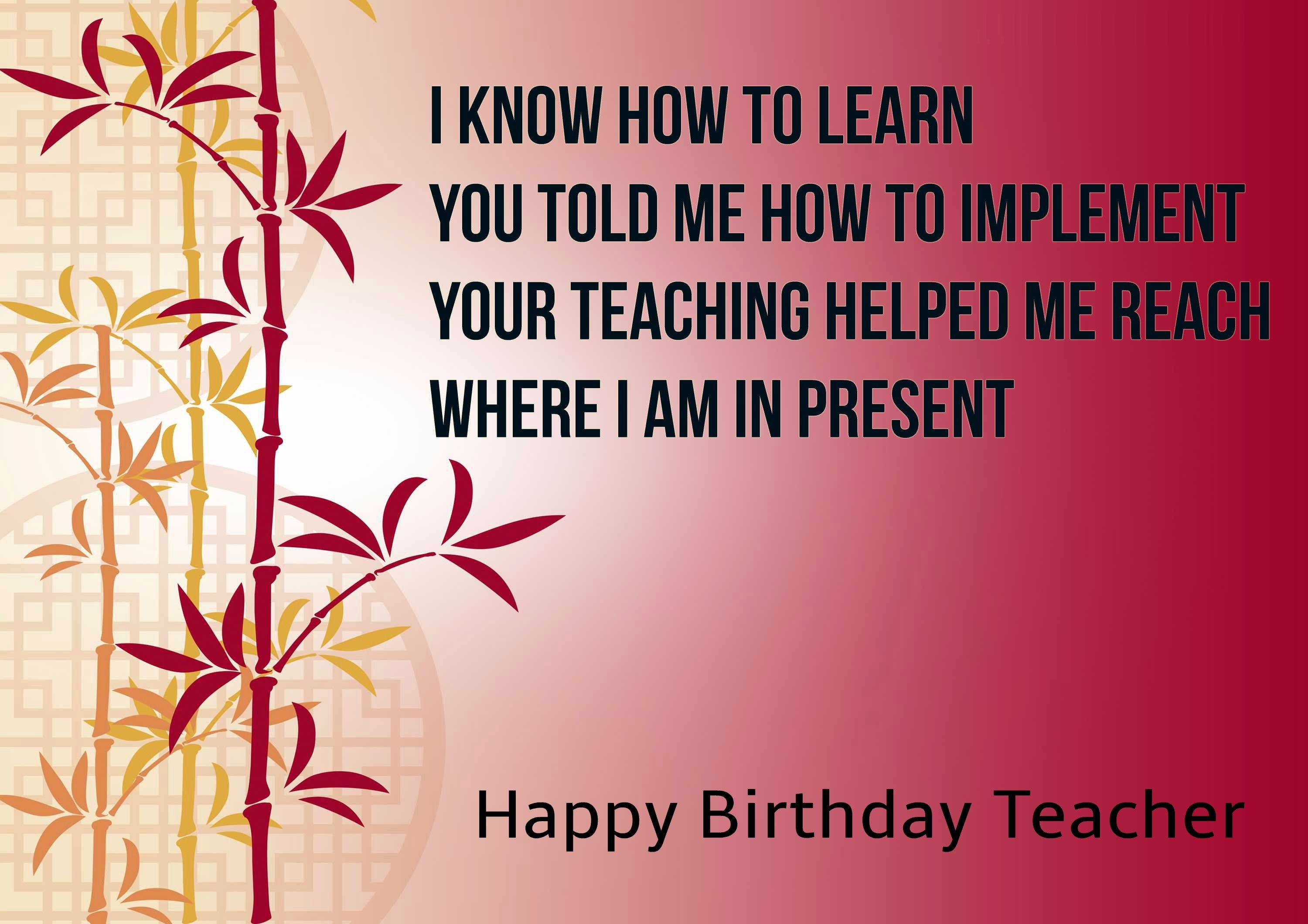 Happy Birthday Greeting Cards For Teachers Birthday Greeting Cards
