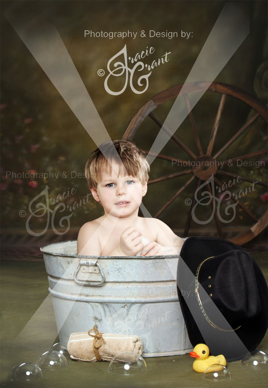 Western Washtub Layered File | Digital Photography Templates ...