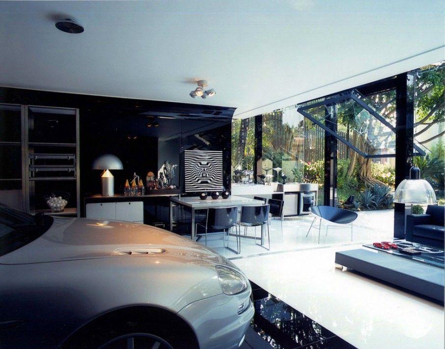 Deluxe Greenhouse Modern Garage With Modern Interior Design
