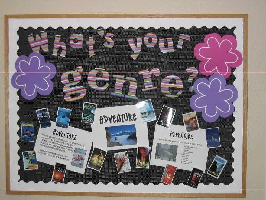 School bulletin board themes library bulletin board for Back to school board decoration