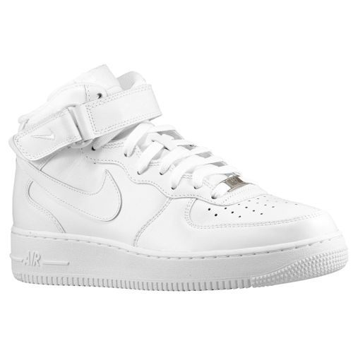 nike shoes white. nike air force 1 mid - men\u0027s basketball shoes white/white white