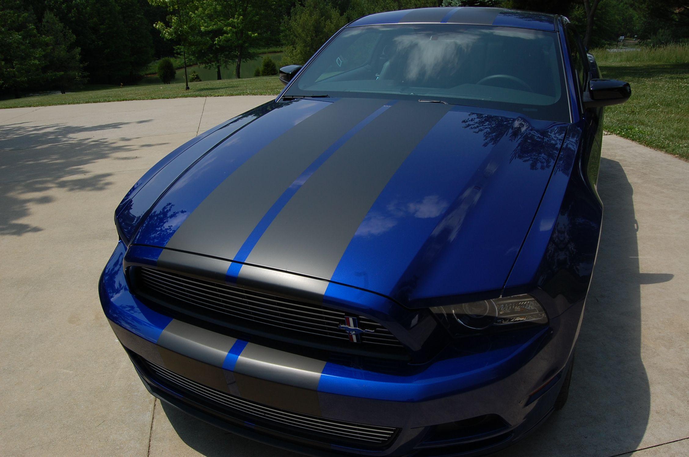 Kona Blue Mustang With Dark Blue Stripes Google Search Car