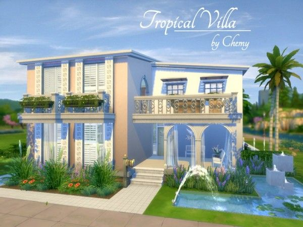 The Sims Resource Tropical Villa By Chemy Sims 4 Downloads Sims