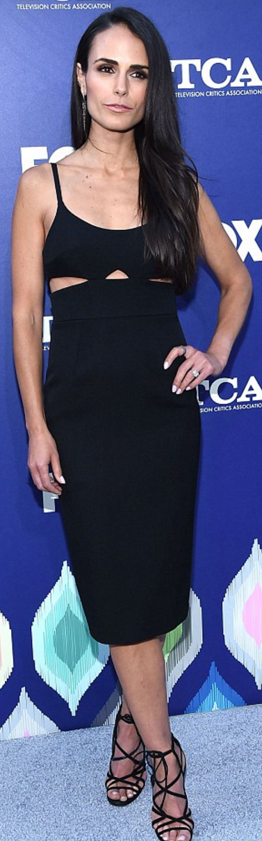 fe6382fd27ea72 Jordana Brewster in Dress – Victoria Beckham Collection Earrings – Doves by  Doron Paloma Ring Bavna