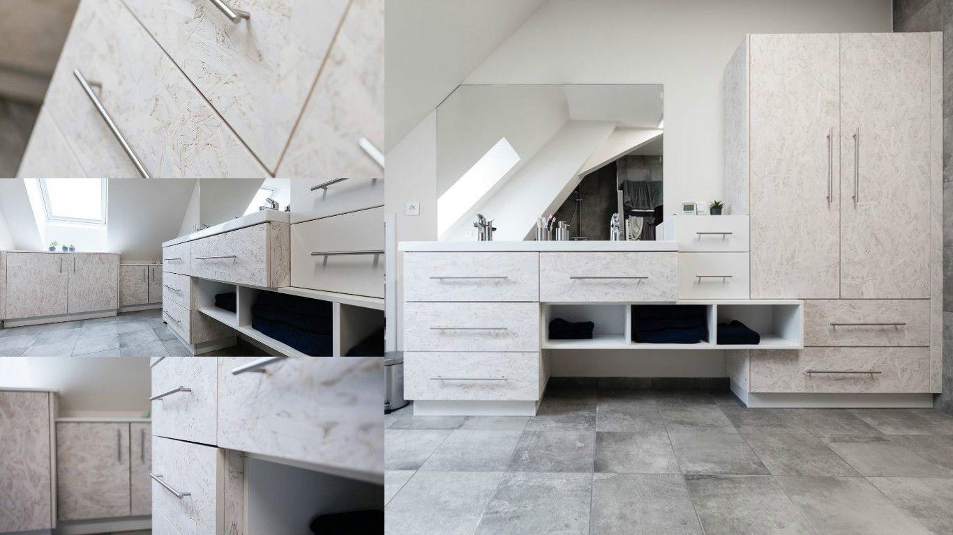 envie d 39 une salle de bain originale voici des panneaux d 39 osb relook en meuble de salle de bain. Black Bedroom Furniture Sets. Home Design Ideas