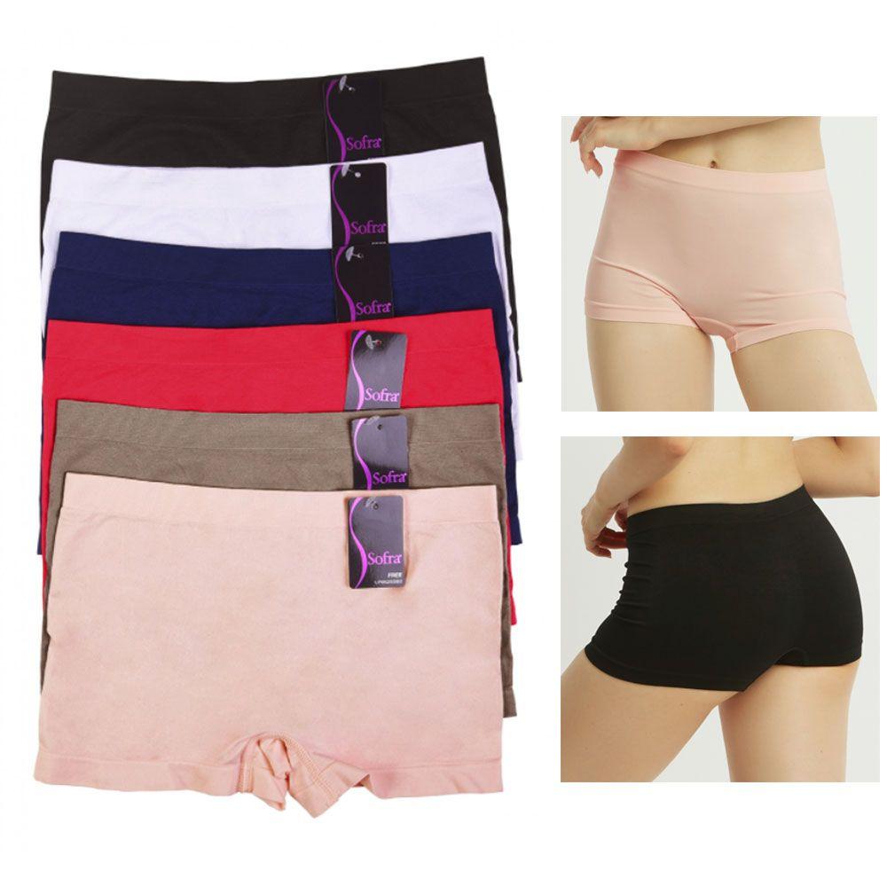 7fe9cd6d2ea6 6 Pack Seamless Boyshorts Womens Underwear Lot Booty Panties Boxer Brief  Spandex#Womens, #Underwear, #Boyshorts