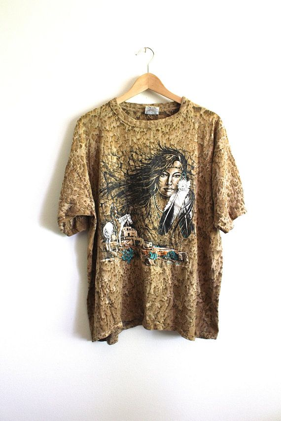Navajo Southwestern Tshirt  80s/90s Native by DissidentVintage