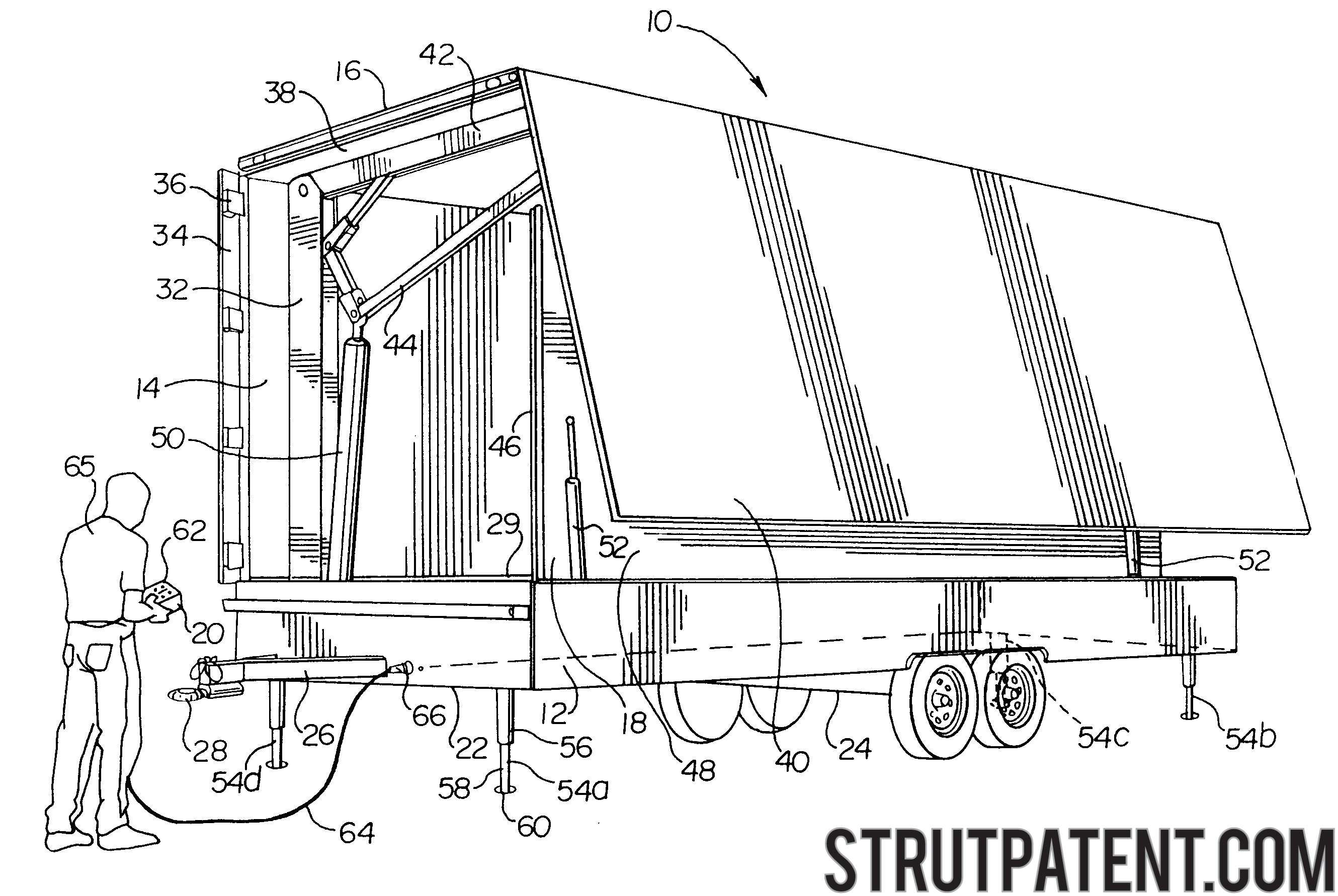Patent: Hydraulic leveling system for mobile stage vehicle