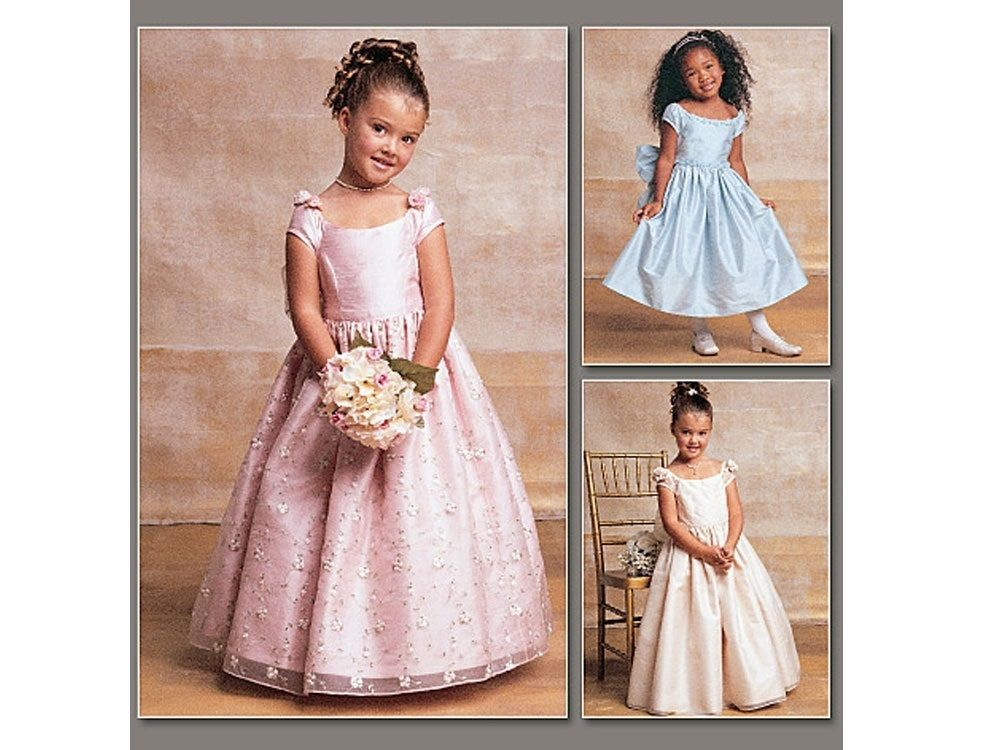 Schnittmuster Vogue 7681 Kleid, Kinder, V7681, bei stoffe-hemmers.de ...
