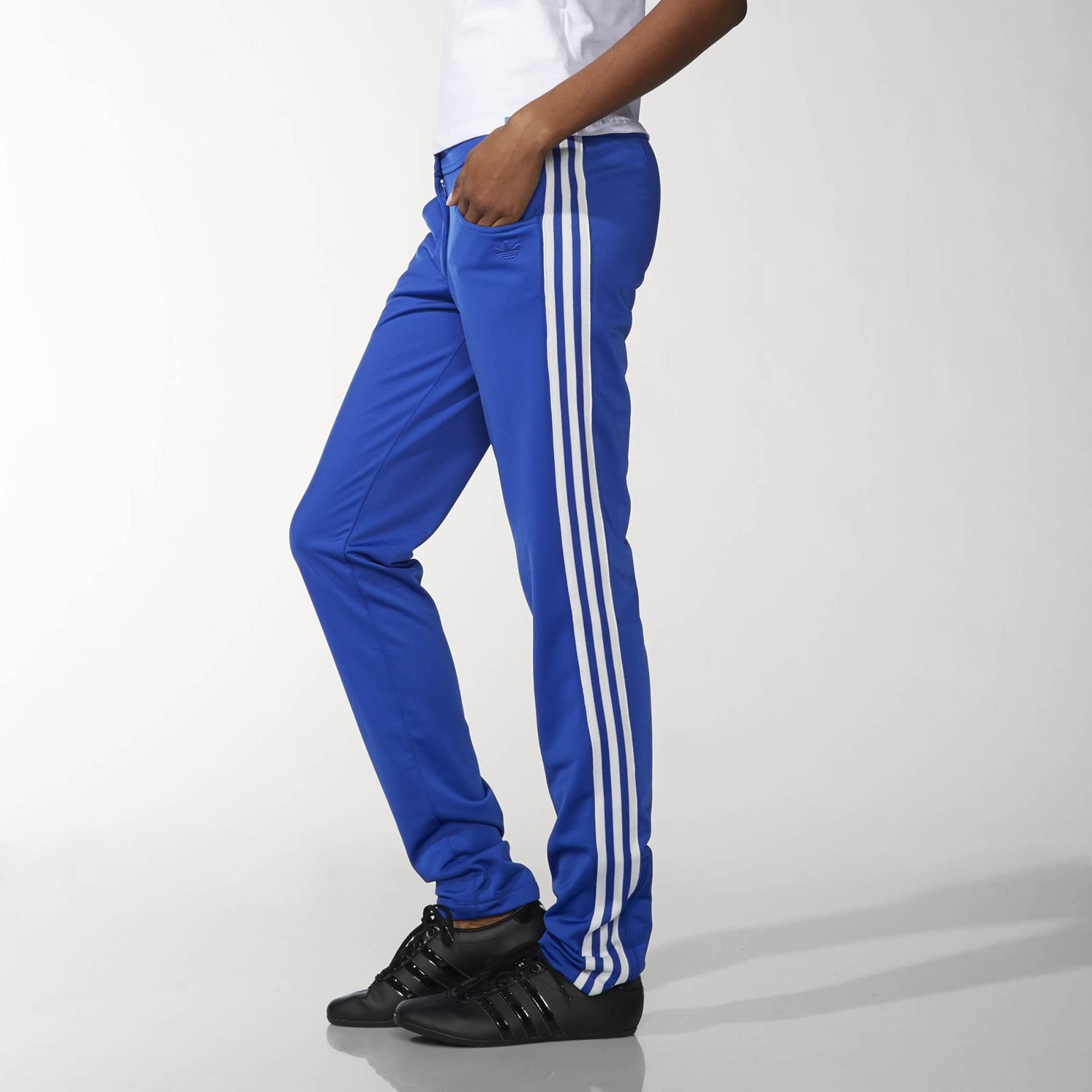 Blue Slim Track Pants | adidas US