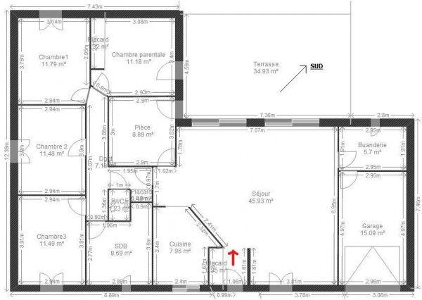Résultats De Recherche Dimages Pour Plan De Maison Plain Pied - Plan maison plain pied gratuit 3 chambres