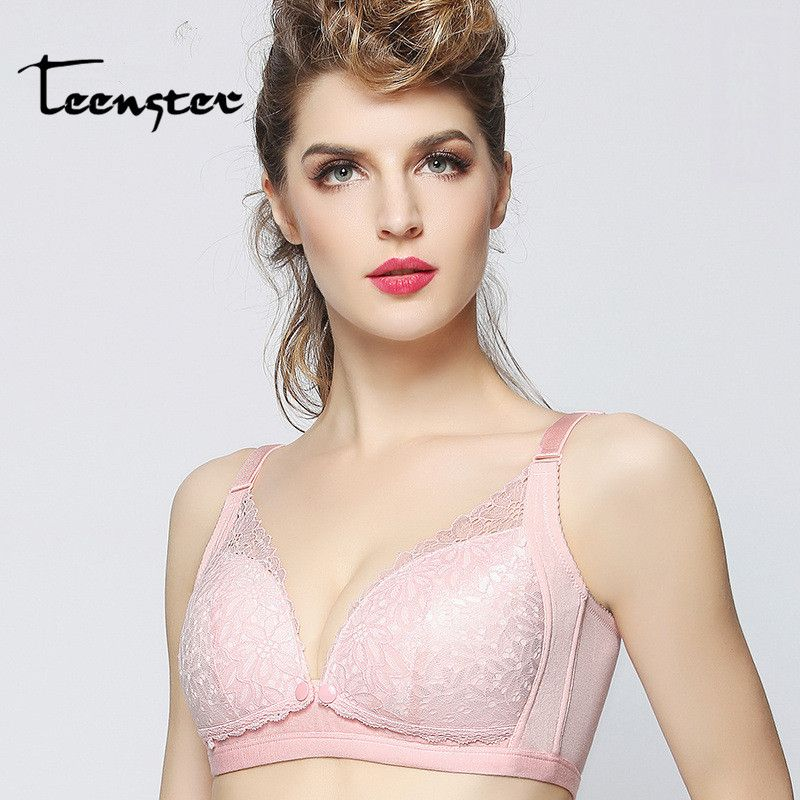 8359542c6d Sexy Lace Maternity Breastfeeding Bra For Feeding Nursing Sleep Bra  Wire-Free Pregnancy Underwear Intimates Clothing. Yesterday s price  US   13.80 (11.42 ...