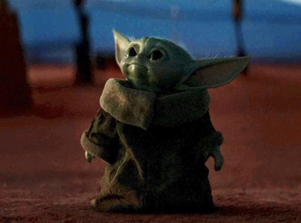 Baby Yoda Who Is Known As The Child Is A Fictional Character Who Appears On The Mandalorian In November 2019 On Disney The Cha Yoda Funny Yoda Meme Funny Gif