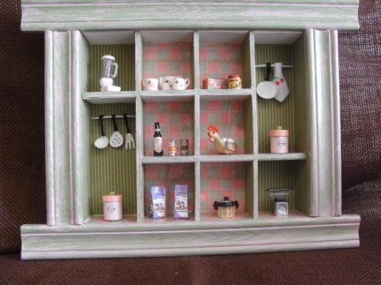 Cuadro artesanal motivos cocina en miniaturas. Obra original del ...