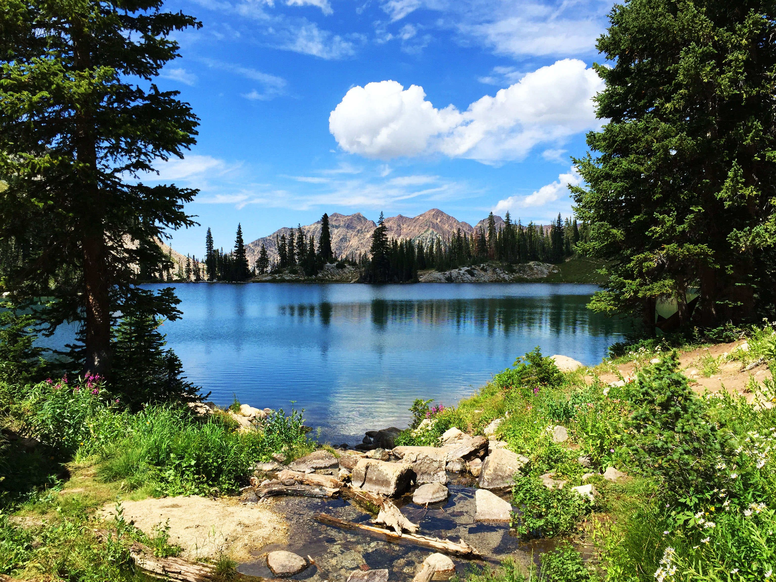 Red Pine Lake Is One Of Utah S Prettiest High Alpine Lakes Near Salt Lake City Its Turquoise Water Rests At The F Utah Travel Utah Camping Salt Lake City Utah