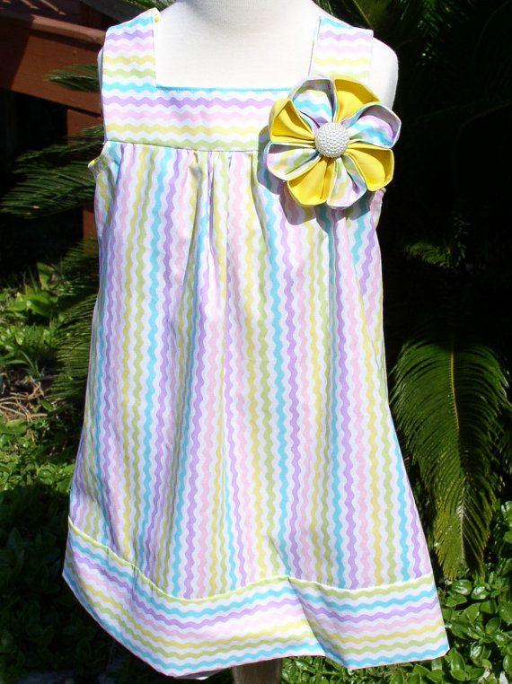 Free Shipping Handmade Sundress Girl's size by SewTouchingDesigns