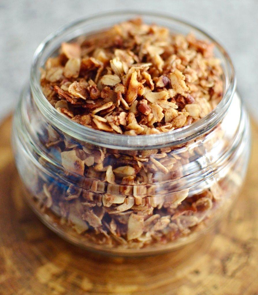 Healthy Coconut Pecan Granola Oatmeal Shredded Coconut Pecans