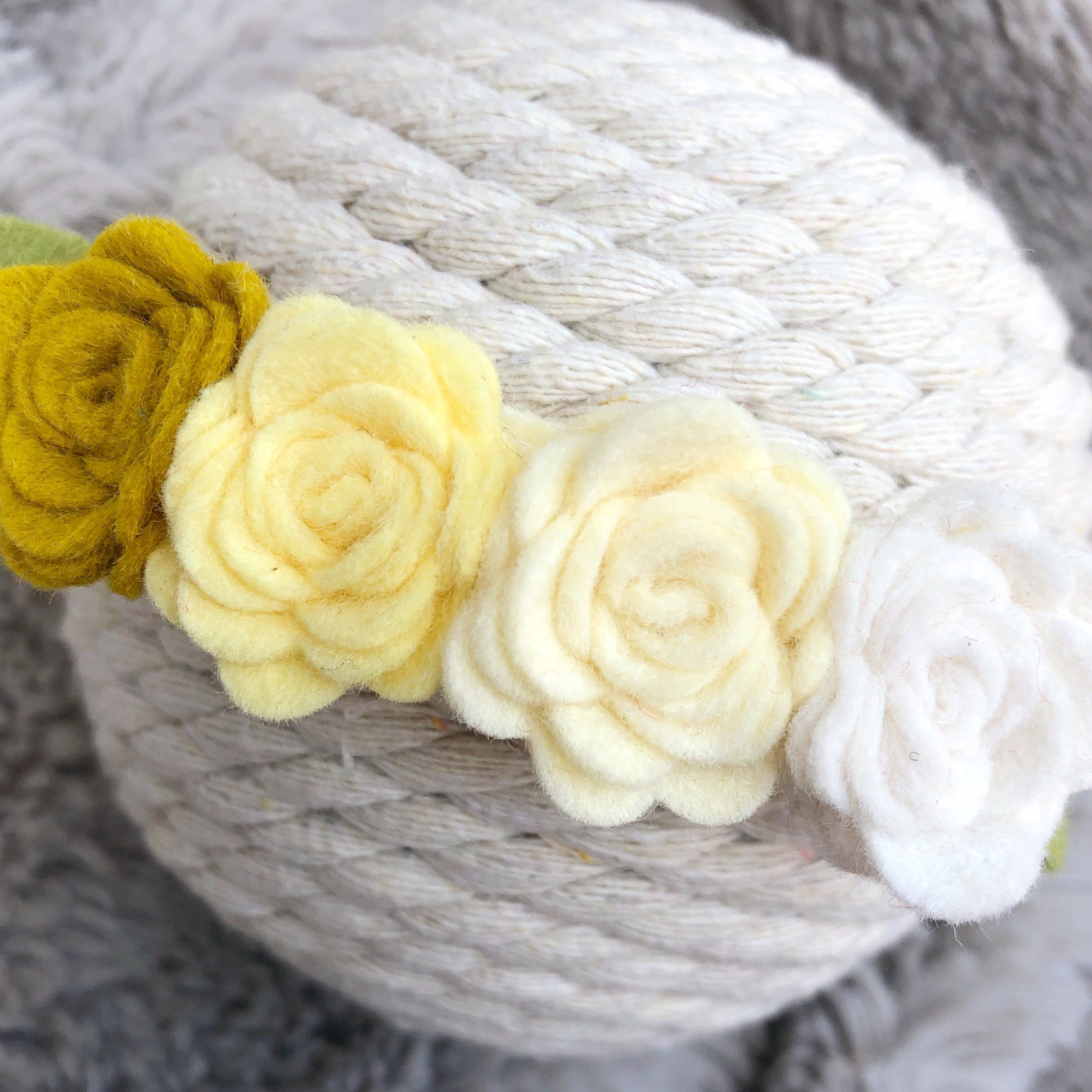 Yellow Felt Flower Headband, Baby Headband, Newborn Headband, Nylon Flower Headbands #feltflowerheadbands