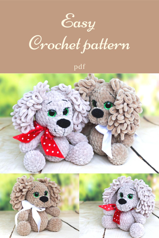 Amigurumi crochet pattern Plush dog, Crochet dog PATTERN, animal PATTERN, PATTERN en inglés, pdf