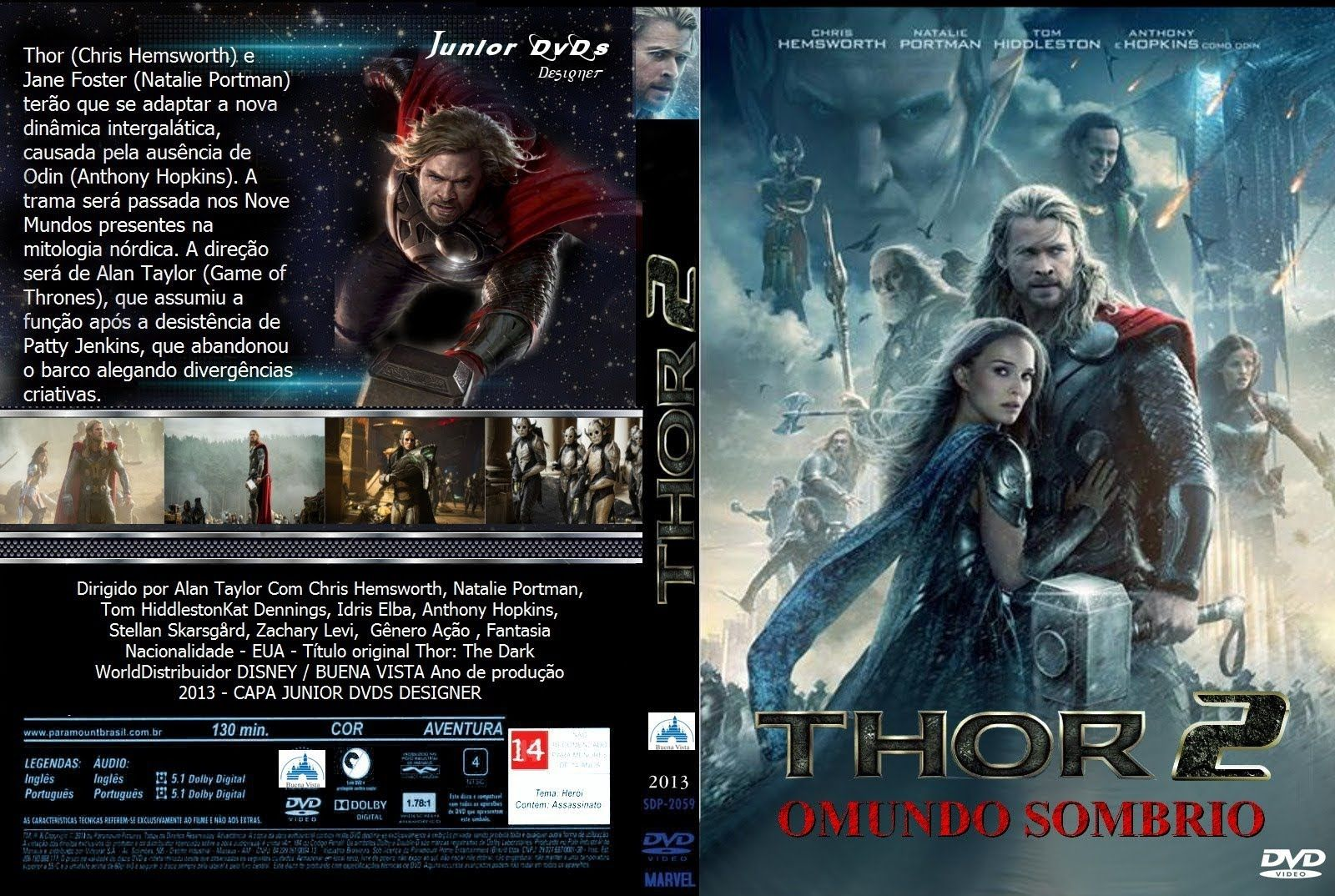 Thor 2 O Mundo Sombrio Filme Completo Dublado Chris Hemsworth Anthony Hopkins Hemsworth