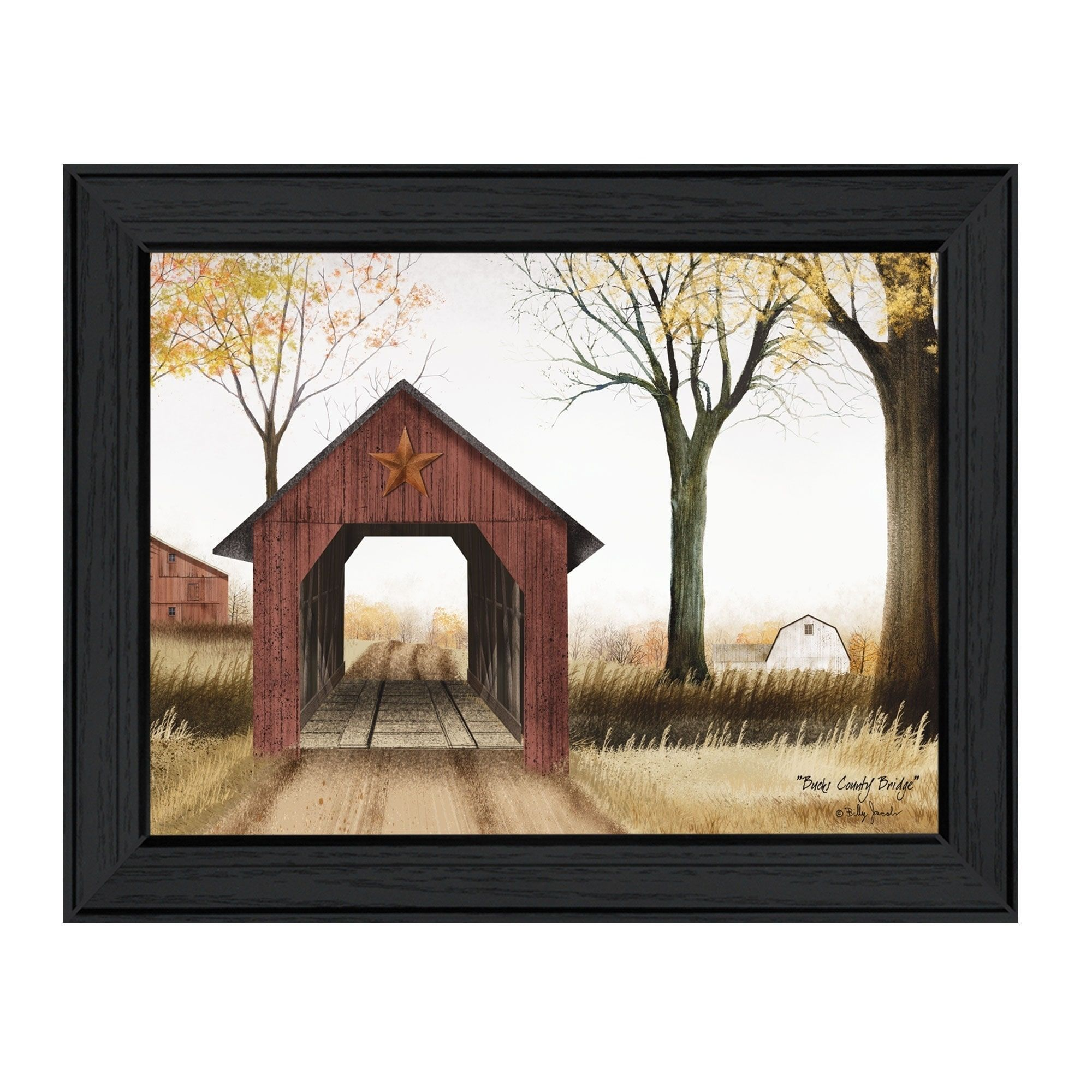 Trendy Decor 4U Bucks County Bridge By Billy Jacobs Printed