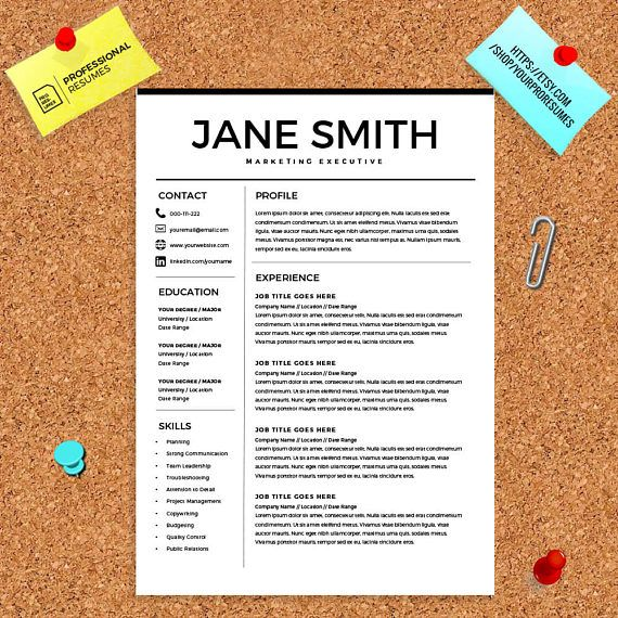 Resume For Microsoft Word Minimal Resume Template Cv  Word