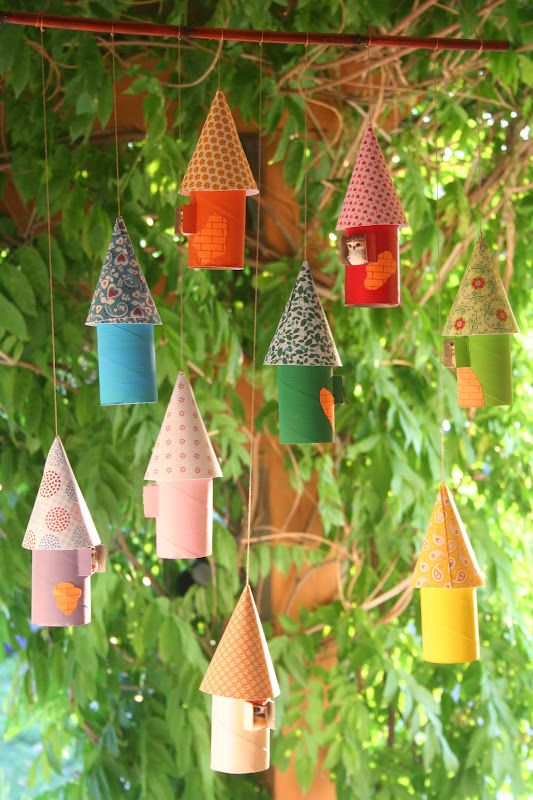 Cute Hanging Tree Houses Made From Toilet Rolls And Semi