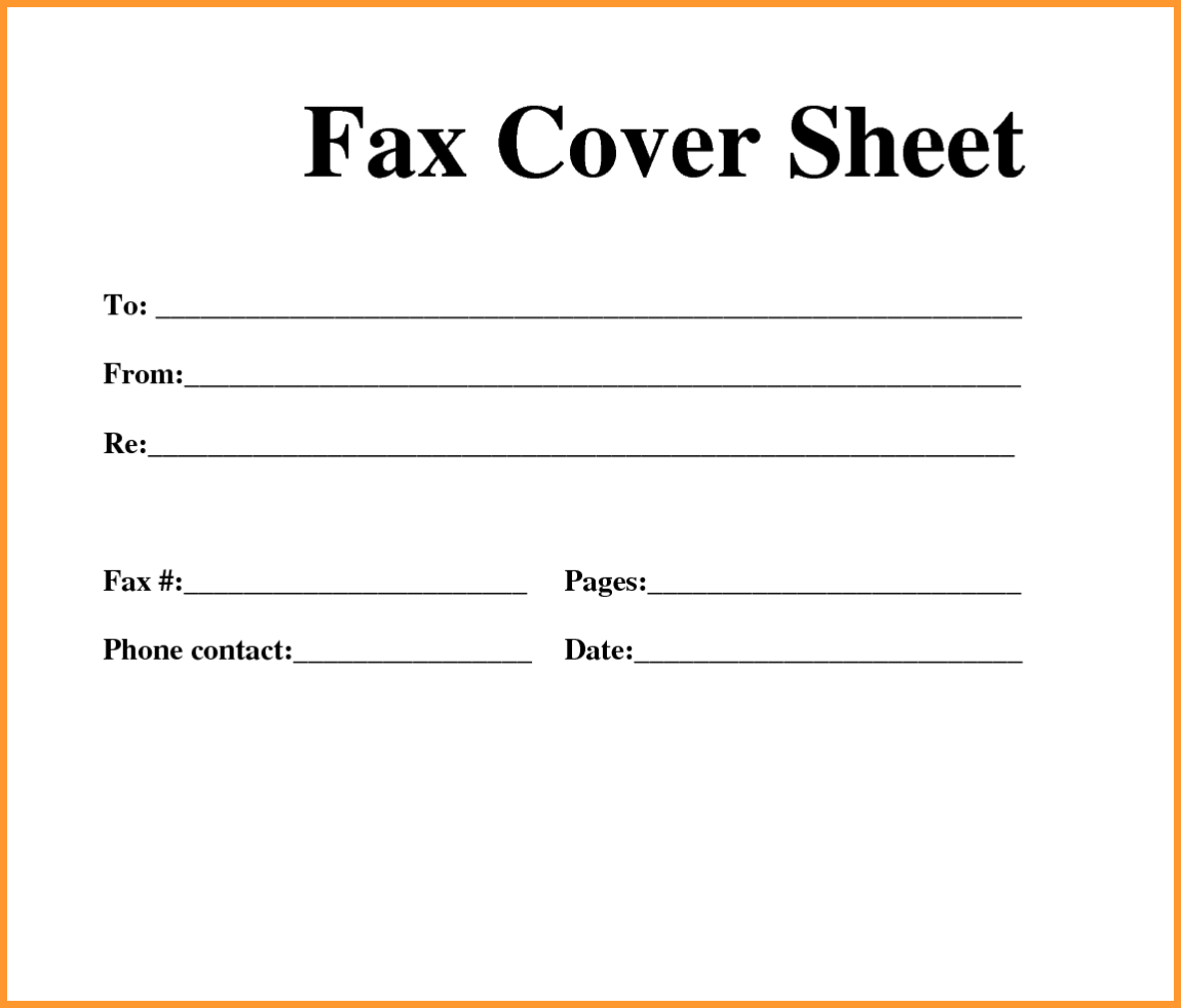 Fax Cover Sheet Fax Cover Sheet Template  Printable Sheets
