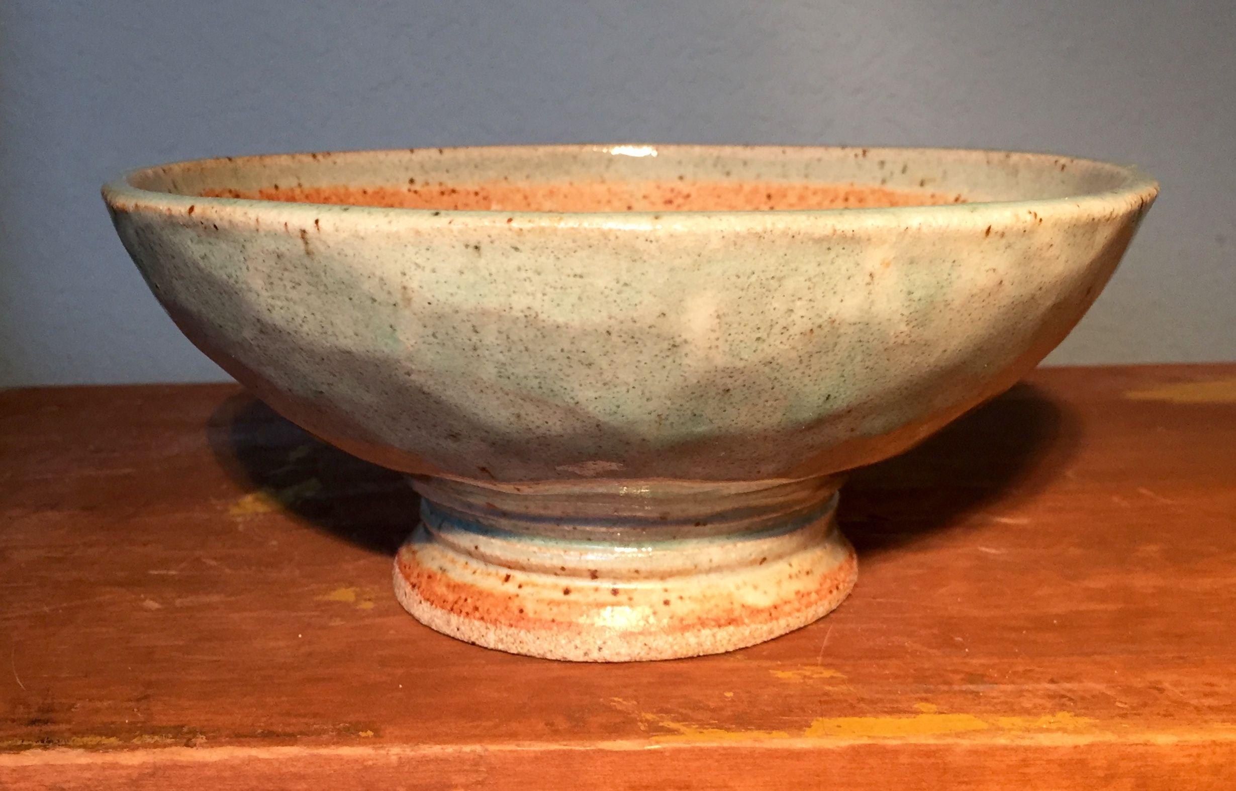 Medium Faceted Ceramic Bowl Soldate Peach Matt Celedon Ceramic Bowls Bowl Ceramics