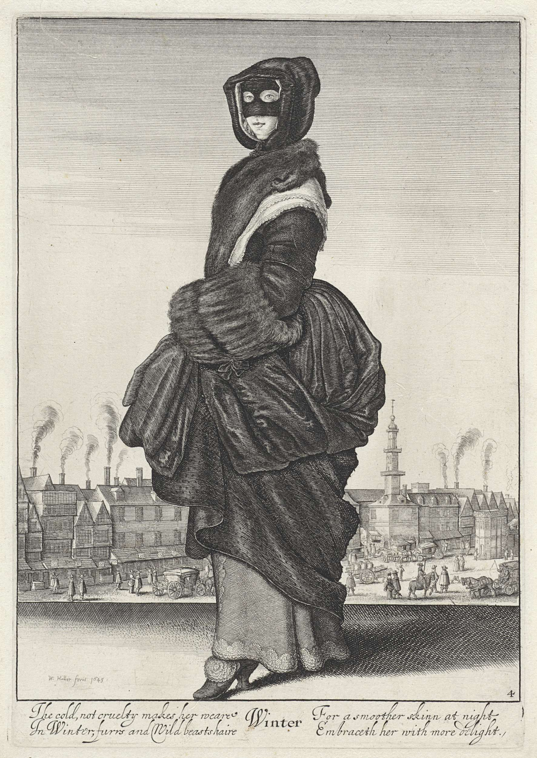 Winter, Wenceslaus Hollar, 1643 New for Now, Rijksmuseum zomer 2015