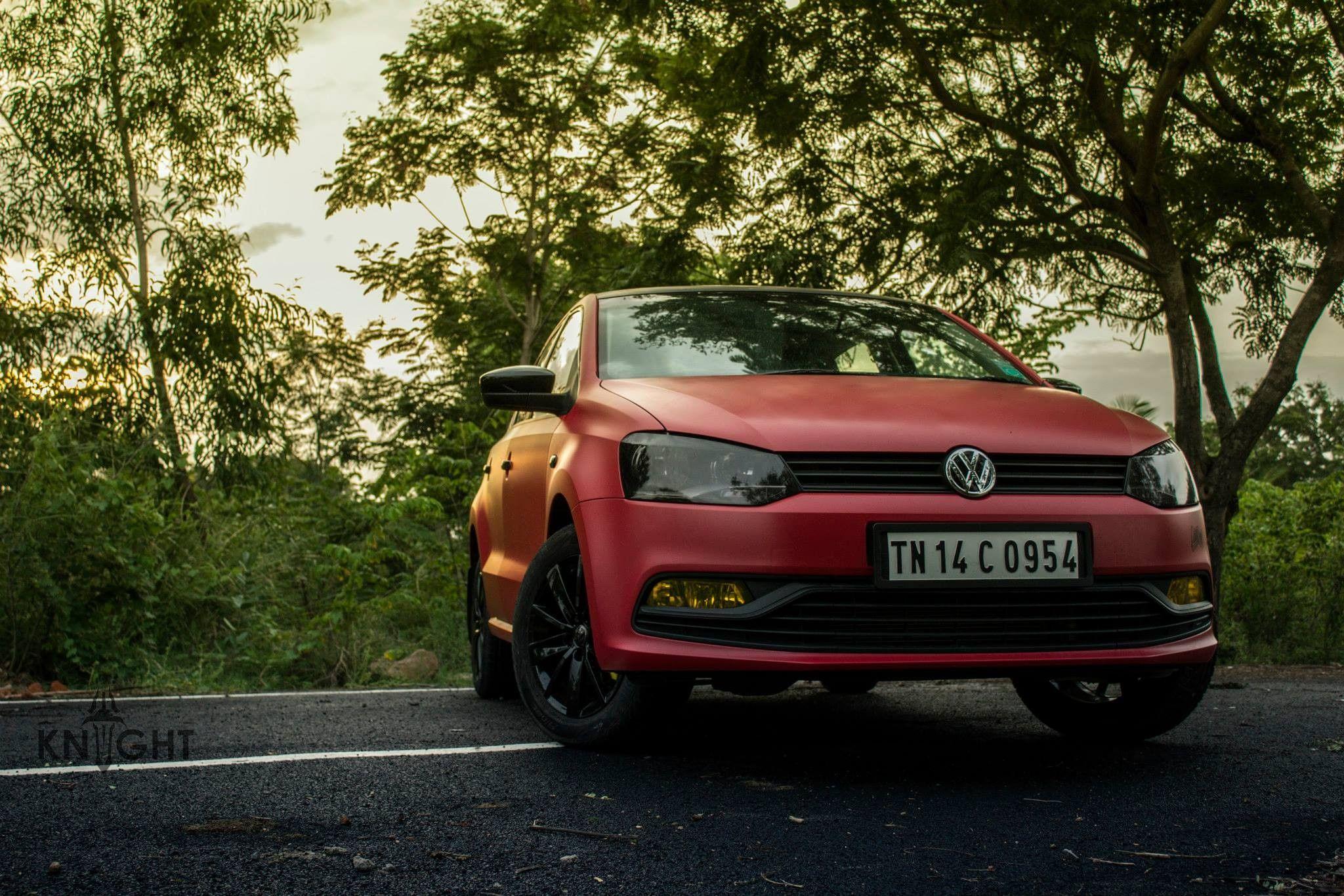 Vw Polo Wrapped In Satin Red Avery Dennison Knight Auto Customizer Chennai Www Knightindia In Volkswagen Polo Vw Polo Polo Wraps