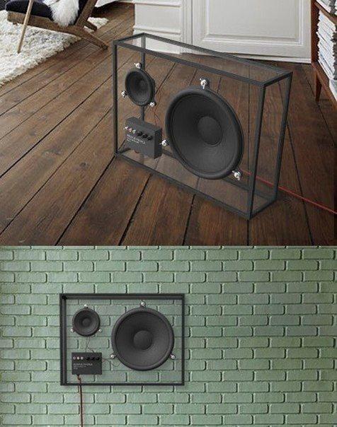 Transparent speakers.