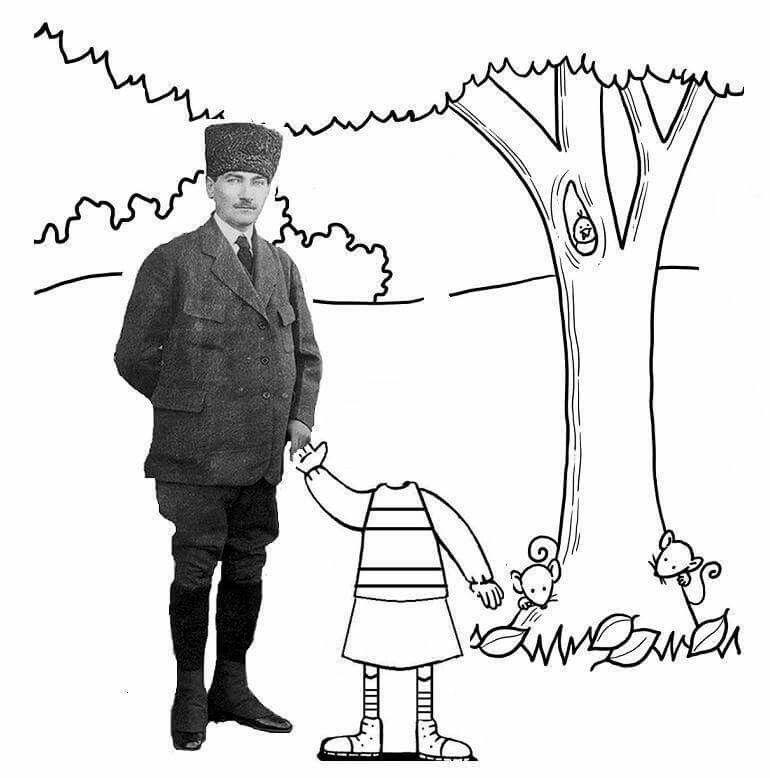 Tugce Capan Adli Kullanicinin Ataturk Panosundaki Pin Okul Okul Oncesi Sanat