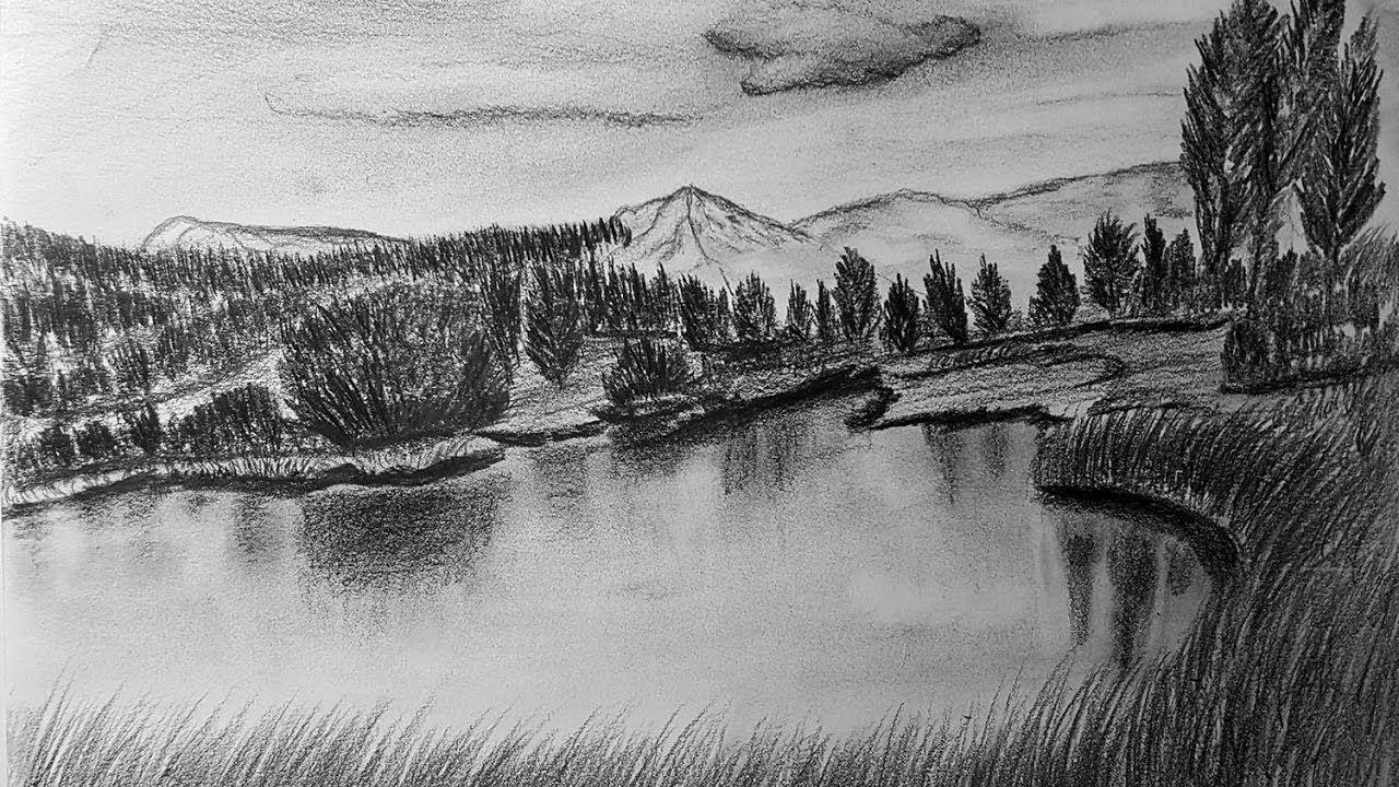 تعلم كيفية رسم المناظر الطبيعية Learn How To Draw Landscapes Landscape Abstract Artwork Abstract