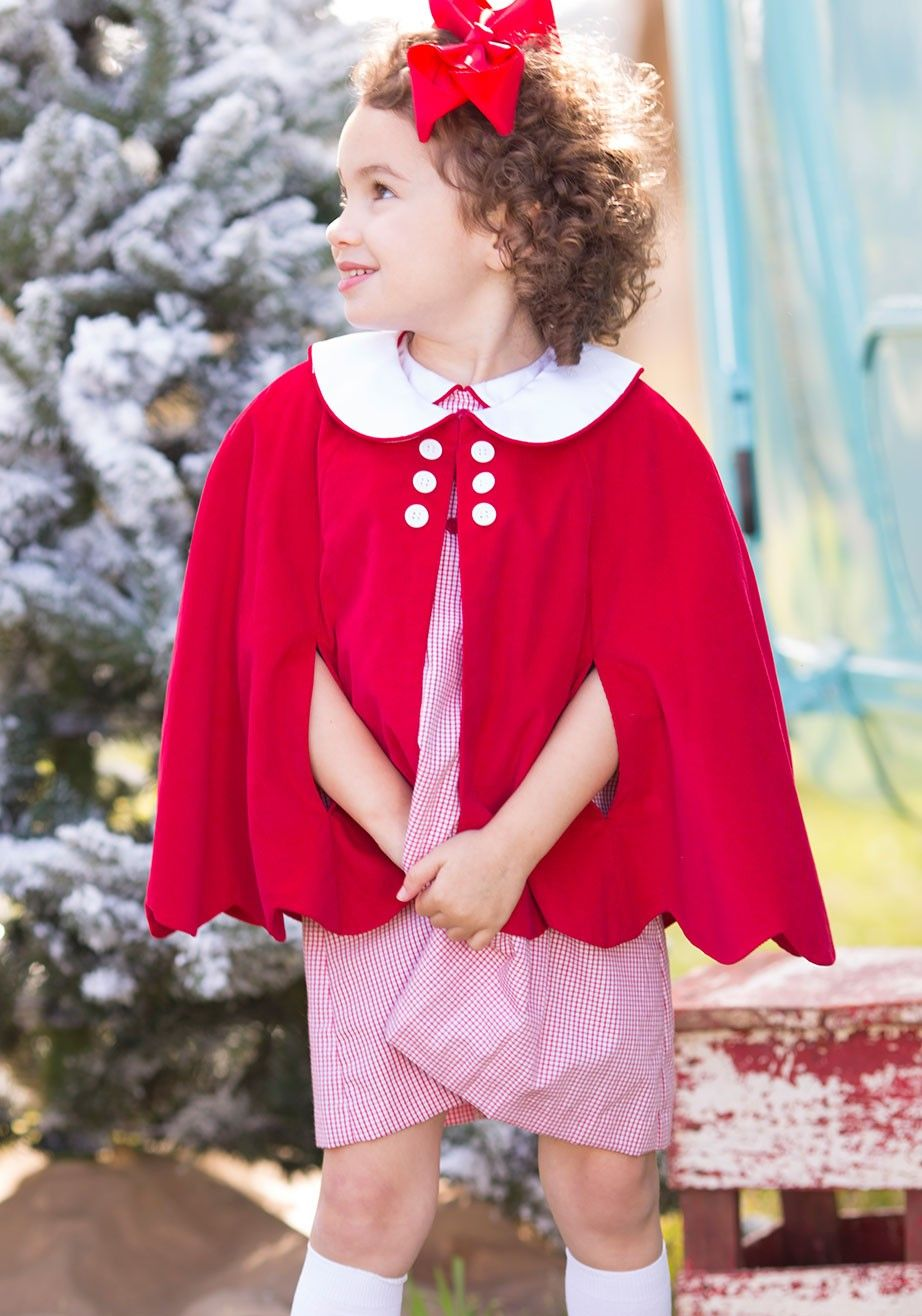 05bdbeff0 Our Red Cord Scallop Cape will be a perfect addition to your little ...
