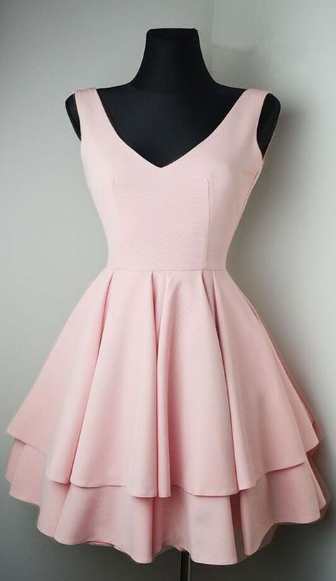 Pink Homecoming Dress,Short Prom Dress,Stain Prom Dress for girls from SheDress